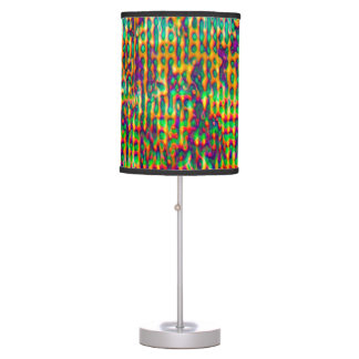 Multicolored Digital GrungePrint Table Lamp
