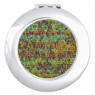 Multicolored Digital GrungePrint Vanity Mirror