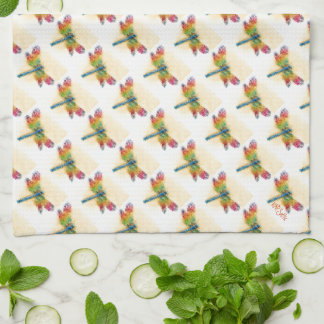 Multicolored Dragonfly Kitchen Towels