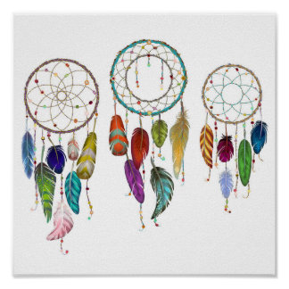 Multicolored Dream Catcher Poster