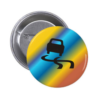 Multicolored Driving Car Button