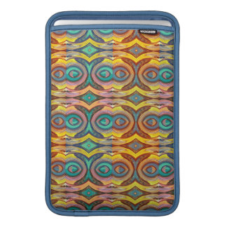 Multicolored Elegant Geometric   Design Sleeve For MacBook Air