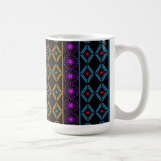 Multicolored examined coffee mug