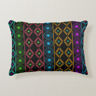 Multicolored examined decorative pillow