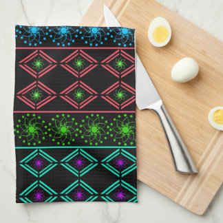 Multicolored examined kitchen towel
