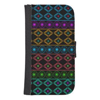 Multicolored examined samsung s4 wallet case