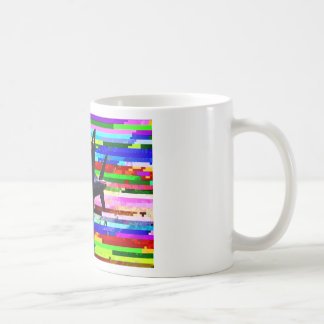 Multicolored Fighter Aircraft Coffee Mug