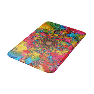 Multicolored Flower Emanation Bathroom Mat