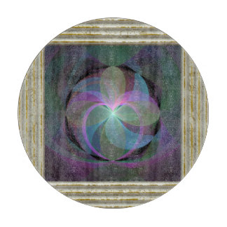MultiColored Fractal Fan Cutting Board
