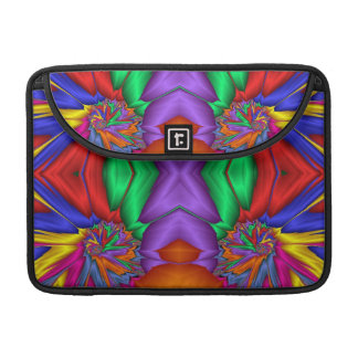Multicolored fractal pattern MacBook pro sleeve