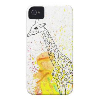 Multicolored Funky Giraffe (K.Turnbull Art) iPhone 4 Cases