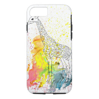 Multicolored Funky Giraffe (K.Turnbull Art) iPhone 8/7 Case