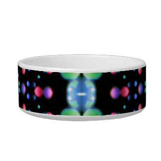 Multicolored Galaxy Pattern Cat Water Bowls