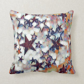 Multicolored Galaxy Throw Pillow