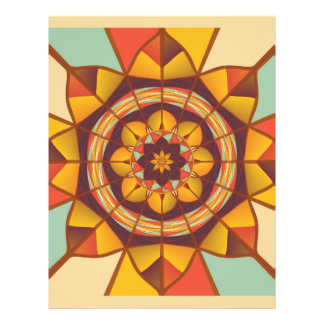Multicolored geometric flourish full colour flyer