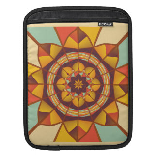 Multicolored geometric flourish iPad sleeve