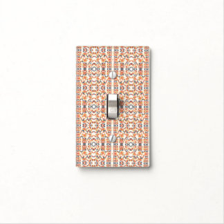 Multicolored Geometric Pattern Light Switch Cover