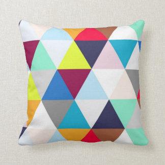 Multicolored Geometric Pattern Throw Pillow