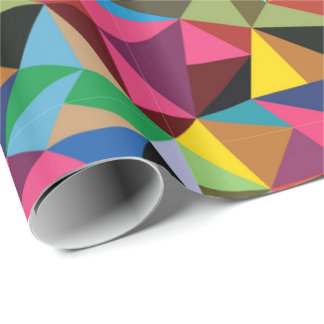 Multicolored Geometric Pattern Wrapping Paper