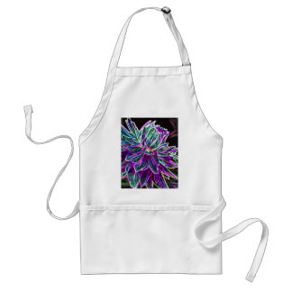 Multicolored Glowing Edge Dahlia Products Standard Apron