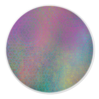 Multicolored Grungy Texture Abstract Remix Ceramic Knob