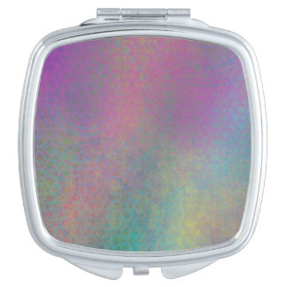 Multicolored Grungy Texture Abstract Remix Travel Mirror