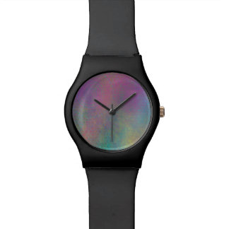 Multicolored Grungy Texture Abstract Remix Wrist Watch