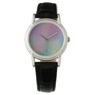 Multicolored Grungy Texture Abstract Remix Wrist Watches