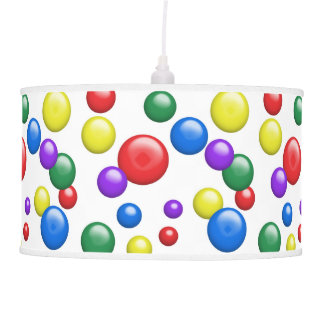 Multicolored Gumballs on White Ceiling Lamp