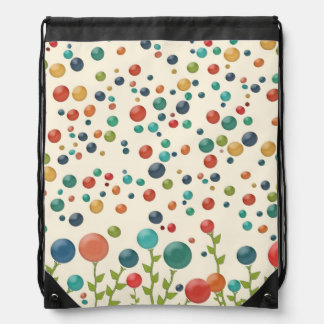 Multicolored Gumdrop Draw String Backpack
