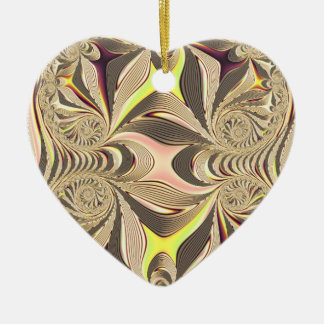 multicolored  Heart Ceramic Ornament
