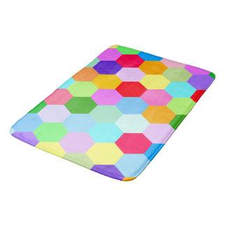 Multicolored Hexagon Pattern Bath Mat