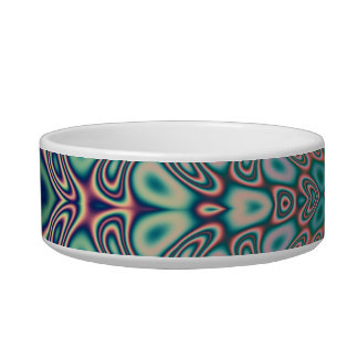 Multicolored Hologram Butterfly Fractal Abstract Bowl