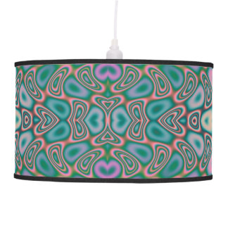 Multicolored Hologram Butterfly Fractal Abstract Hanging Lamps
