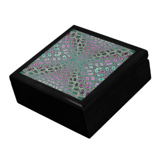 Multicolored Hologram Butterfly Fractal Abstract Jewelry Box