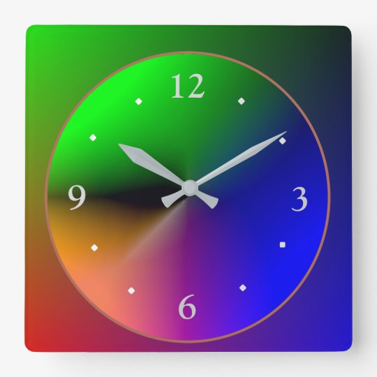 Multicolored Illuminated Design>Colourful Wall Clock