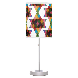 Multicolored Jewish Stars Patterned Lamp