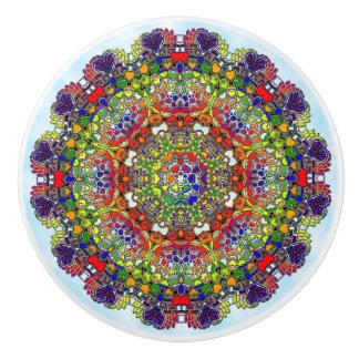 MultiColored Kaleidoscope Ceramic Knob