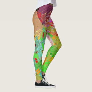 Multicolored Karos Leggings