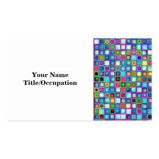 Multicolored 'Kindergarten' Retro Tiles Pattern Business Card Template