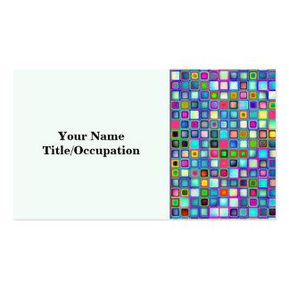 Multicolored 'Kindergarten' Retro Tiles Pattern Business Cards