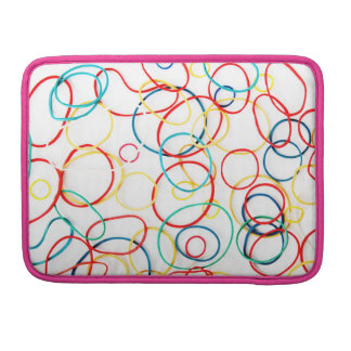 "Multicolored Kringel of | pink | yellow | 13"" Sleeve For MacBook Pro"