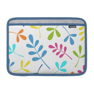 Multicolored Large Assorted Leaves Design MacBook Sleeves