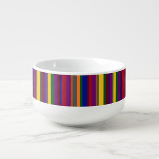 Multicolored Lines on Soup Mug