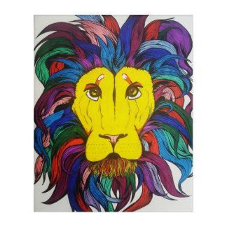 Multicolored Lion Acrylic Print
