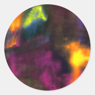 Multicolored mist classic round sticker