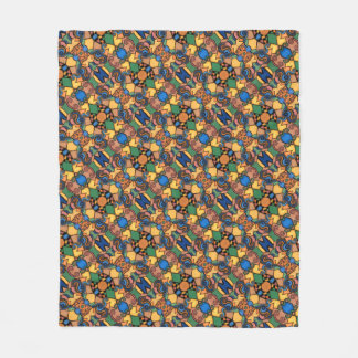 Multicolored Modern Abstract Pattern Fleece Blanket