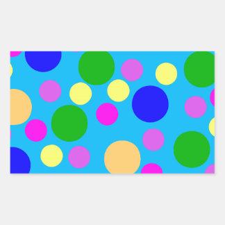 Multicolored Modern Dots blue cyan pink purple Sticker