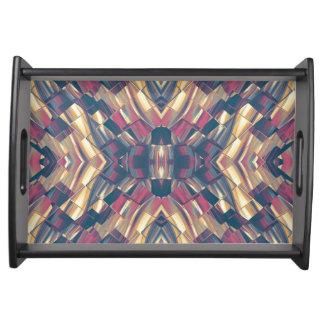 Multicolored Modern Geometric Serving Tray
