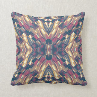 Multicolored Modern Geometric Throw Pillow
